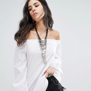 Free People Show Off Shoulder Tunic Top S